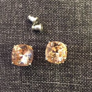 Pink Crystal earrings Origami Owl studs